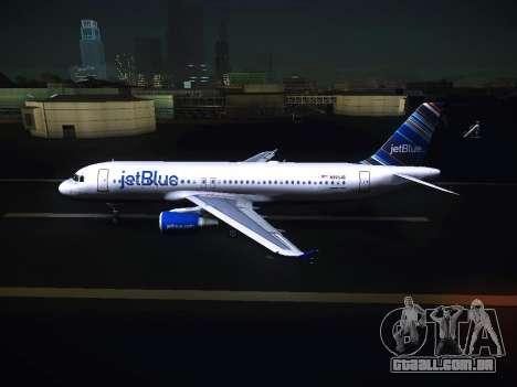 Airbus A320 JetBlue para GTA San Andreas esquerda vista