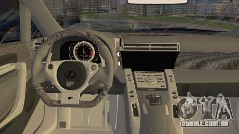 Lexus LFA Street Edition Djarum Black para GTA San Andreas vista traseira