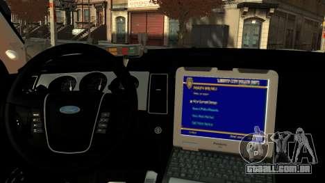 Ford Police Interceptor LCPD 2013 [ELS] para GTA 4 vista direita