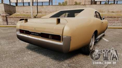 Imponte Dukes new wheels para GTA 4 traseira esquerda vista