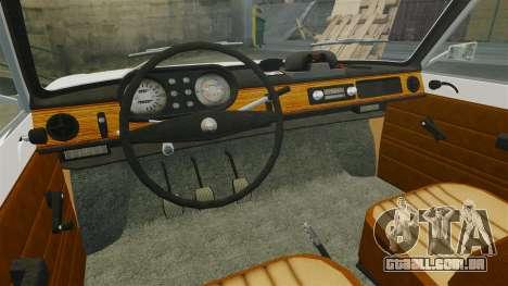 Wartburg 353w Deluxe Hungarian Police para GTA 4 vista interior