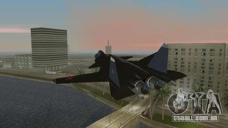 O Su-47 Berkut para GTA Vice City deixou vista