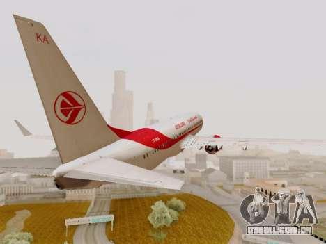 Boeing 737-800 Air Algerie para GTA San Andreas vista interior