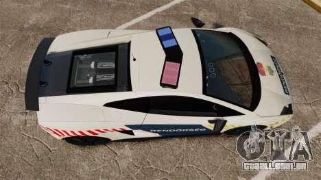 Lamborghini Gallardo Hungarian Police [ELS] para GTA 4 vista direita
