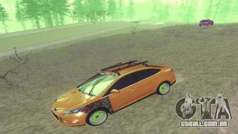 Ford Focus Sedan Hellaflush para GTA San Andreas traseira esquerda vista