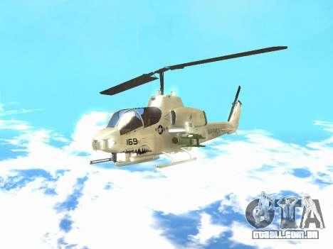 AH-1W Super Cobra para GTA San Andreas esquerda vista