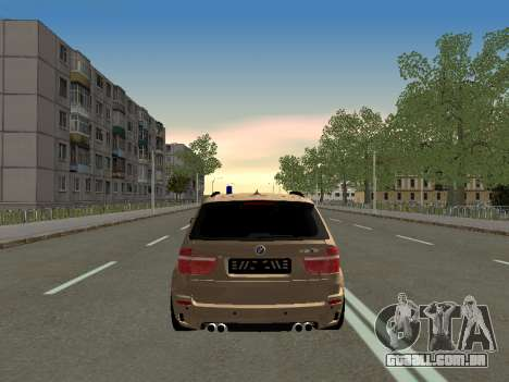 BMW X5M para GTA San Andreas vista direita
