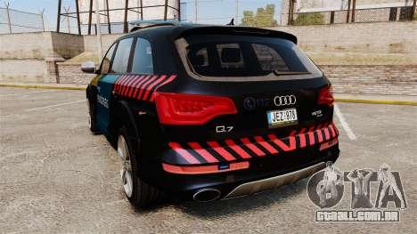 Audi Q7 Hungarian Police [ELS] para GTA 4 traseira esquerda vista