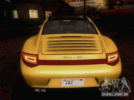Porsche 911 Targa 4S para GTA San Andreas vista superior