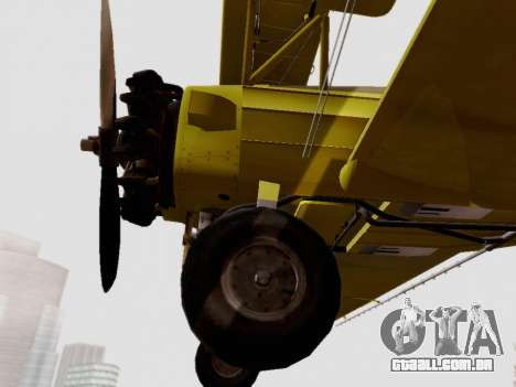 Grumman G-164 AgCat para GTA San Andreas vista traseira