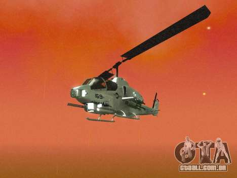 AH-1W Super Cobra para GTA San Andreas vista superior