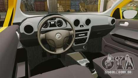 Volkswagen Gol G5 3 Puertas para GTA 4 vista de volta