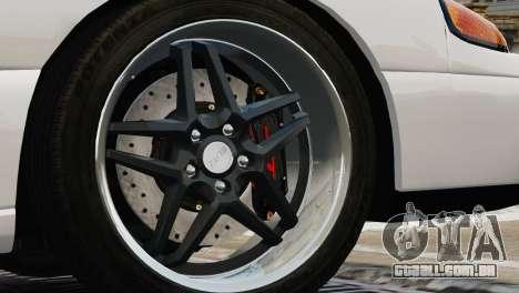 Dodge Stealth Turbo RT 1996 para GTA 4 traseira esquerda vista