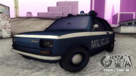 Fiat 126p milicja para GTA San Andreas esquerda vista