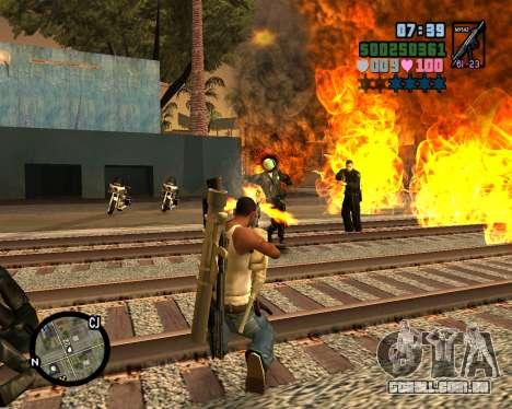 C-HUD Vice Sity para GTA San Andreas por diante tela