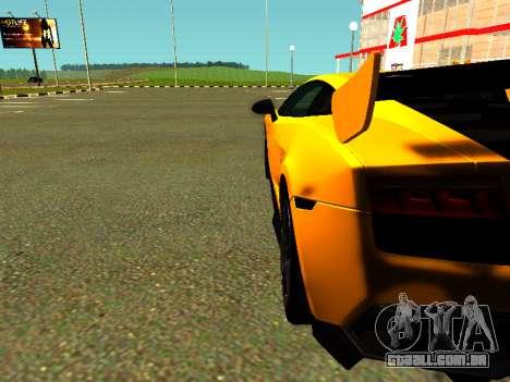 Lamborghini Gallardo Super Trofeo Stradale para GTA San Andreas vista direita