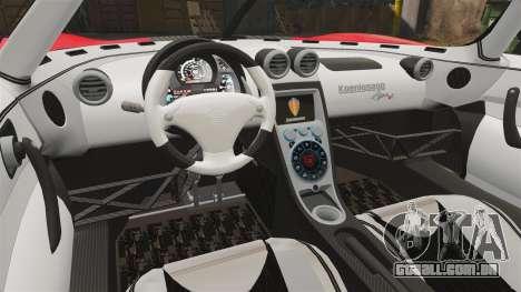 Koenigsegg Agera R [EPM] NFS para GTA 4 vista interior