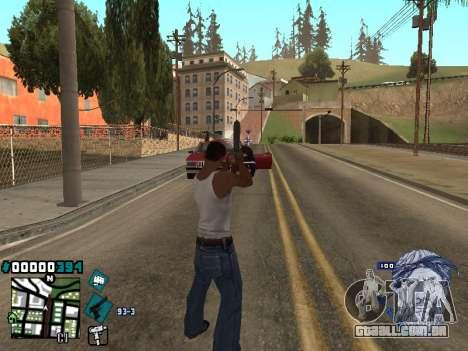 C-HUD Rifa in Ghetto para GTA San Andreas segunda tela