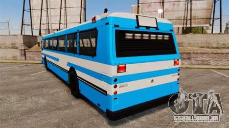 Brute Bus Japanese Police [ELS] para GTA 4 traseira esquerda vista