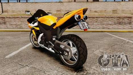 Yamaha R1 RN12 v.0.95 para GTA 4 vista direita