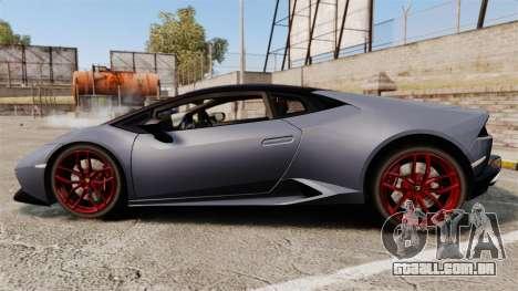 Lamborghini Huracan 2014 para GTA 4 esquerda vista
