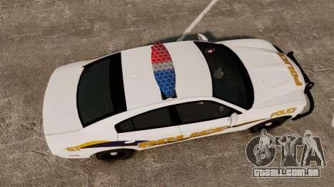 Dodge Charger 2013 Liberty University Police ELS para GTA 4 vista direita