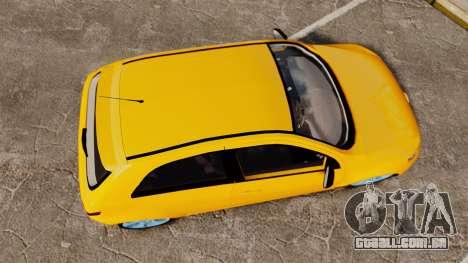 Volkswagen Gol G5 3 Puertas para GTA 4 vista direita