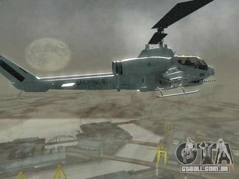 AH-1W Super Cobra para vista lateral GTA San Andreas