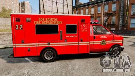Brute LSFD Paramedic para GTA 4 esquerda vista