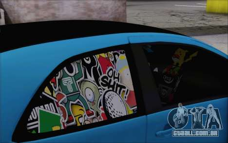 Toyota Yaris Hellaflush Young Child para GTA San Andreas vista direita