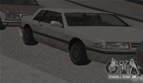 Todas as rodas em todas as máquinas para GTA San Andreas quinto tela