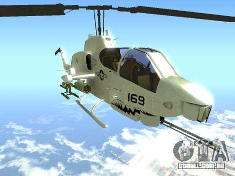 AH-1W Super Cobra para GTA San Andreas vista direita