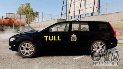 Volvo V70 Swedish TULL [ELS] para GTA 4 esquerda vista