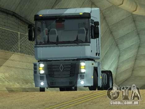 Renault Magnum para GTA San Andreas traseira esquerda vista