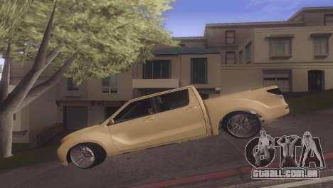 Mazda BT-50 Pro para GTA San Andreas esquerda vista