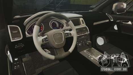 Audi Q7 Hungarian Police [ELS] para GTA 4 vista interior