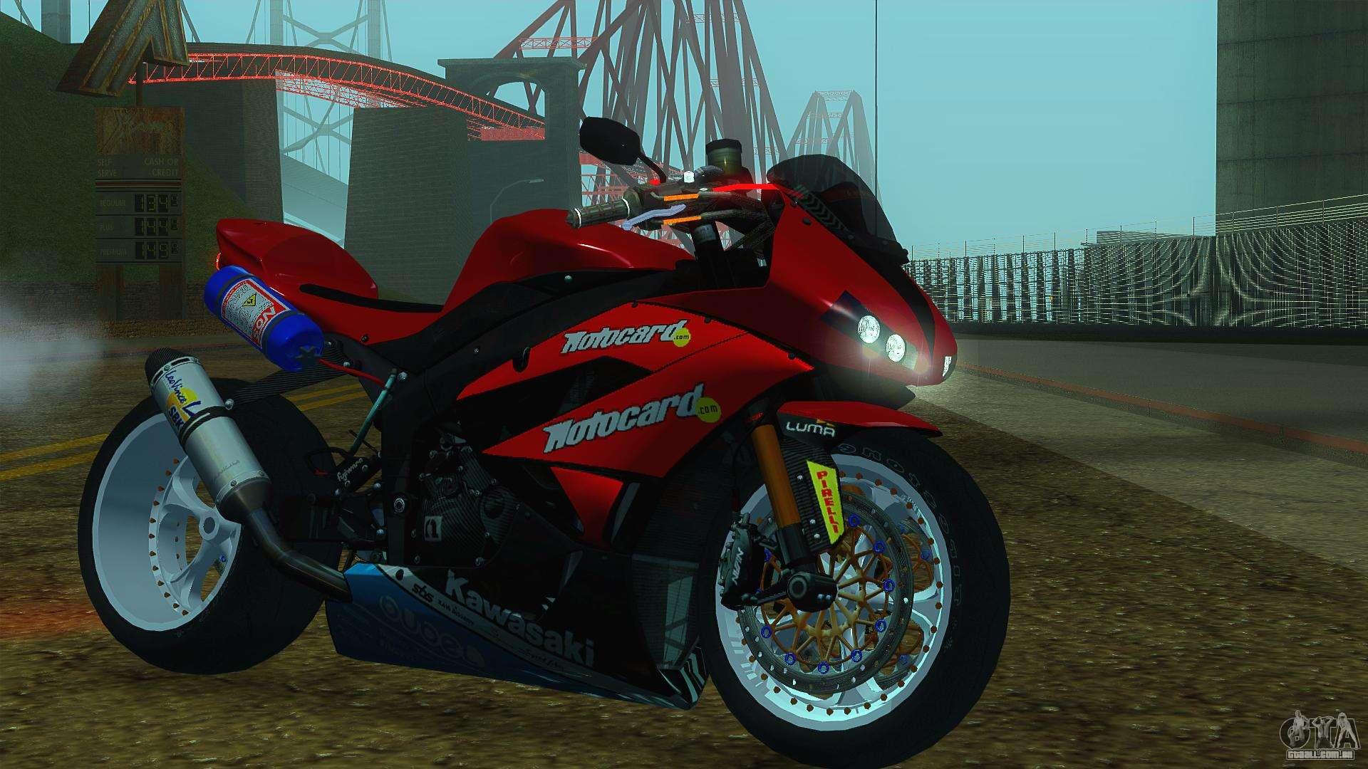 Kawasaki Ninja ZX-6R para GTA San Andreas