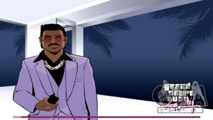 Arranque telas com a versão para PS2 para GTA Vice City