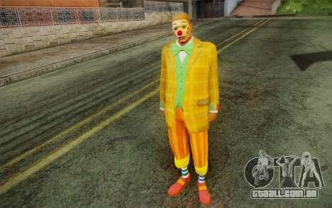 O palhaço de GTA 5 para GTA San Andreas segunda tela