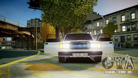 VAZ 2107 para GTA 4 vista lateral