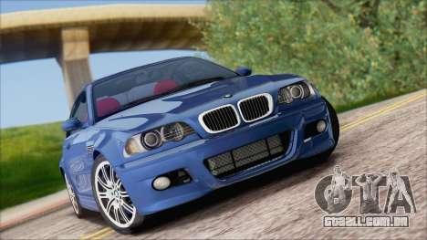 BMW M3 E46 2002 para GTA San Andreas vista traseira