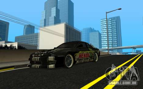 Nissan Silvia S14 Monster Energy KENDA Tire para GTA San Andreas vista interior