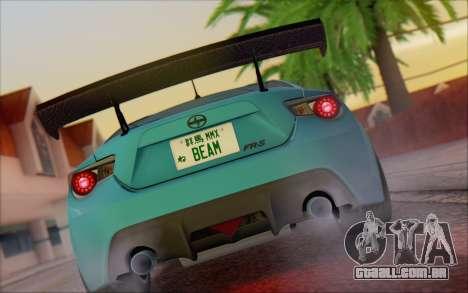 Scion FR-S 2013 Beam para GTA San Andreas vista direita