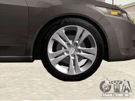 Honda Accord 2009 para GTA San Andreas vista superior