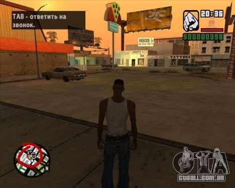 Ícones de radar da versão móvel do jogo para GTA San Andreas terceira tela