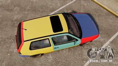 Volkswagen Golf MK3 Harlequin para GTA 4 vista direita