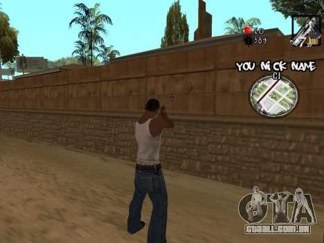 C-HUD by San4os para GTA San Andreas