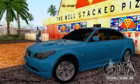 BMW 530xd para GTA San Andreas vista direita