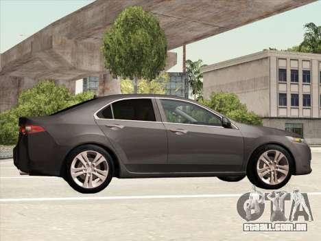 Honda Accord 2009 para GTA San Andreas vista interior