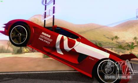 Koenigsegg One 2014 para GTA San Andreas vista interior